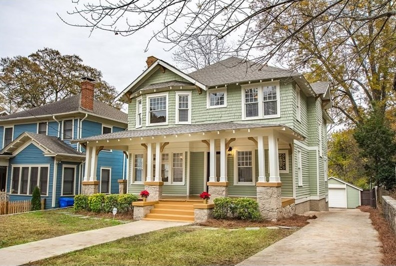 A renovated home in Candler Park Atlanta.