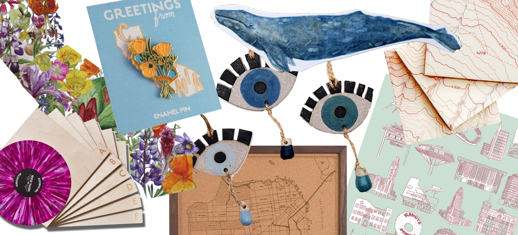 A selection of gifts from California designers