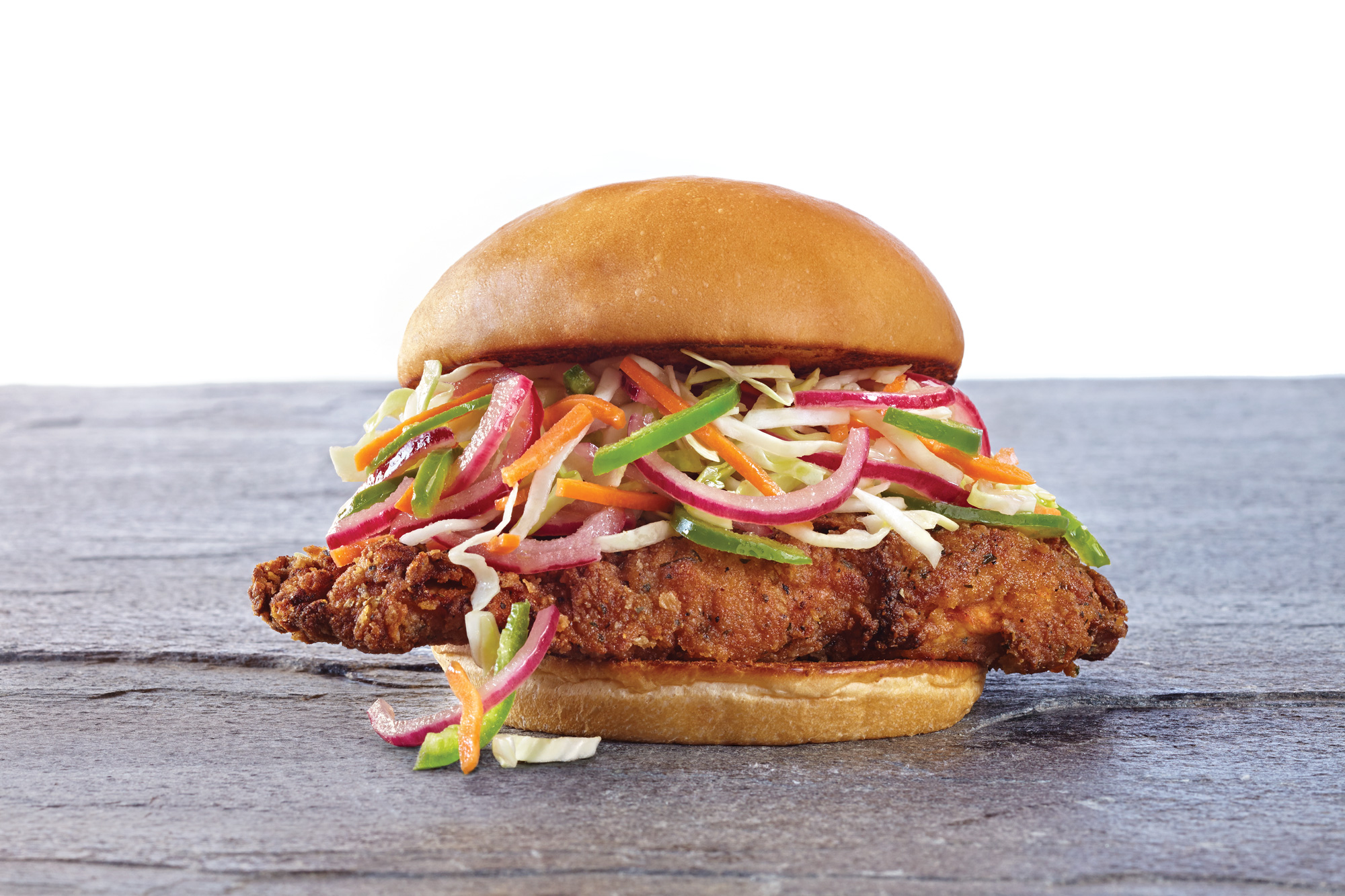 The Organic Coup's fried chicken sandwich