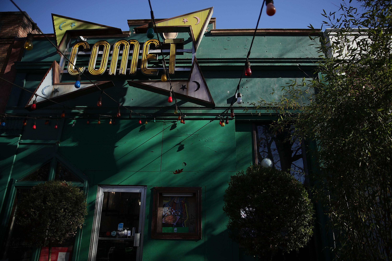 Exterior shot of Comet Ping Pong.