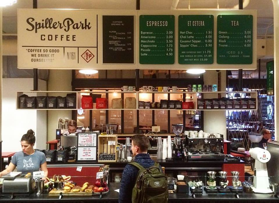The Spiller Park Coffee kiosk in Ponce City Market
