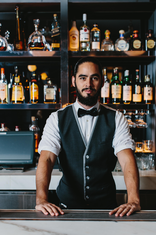 Joe Haywood behind the bar at Bar Margot.