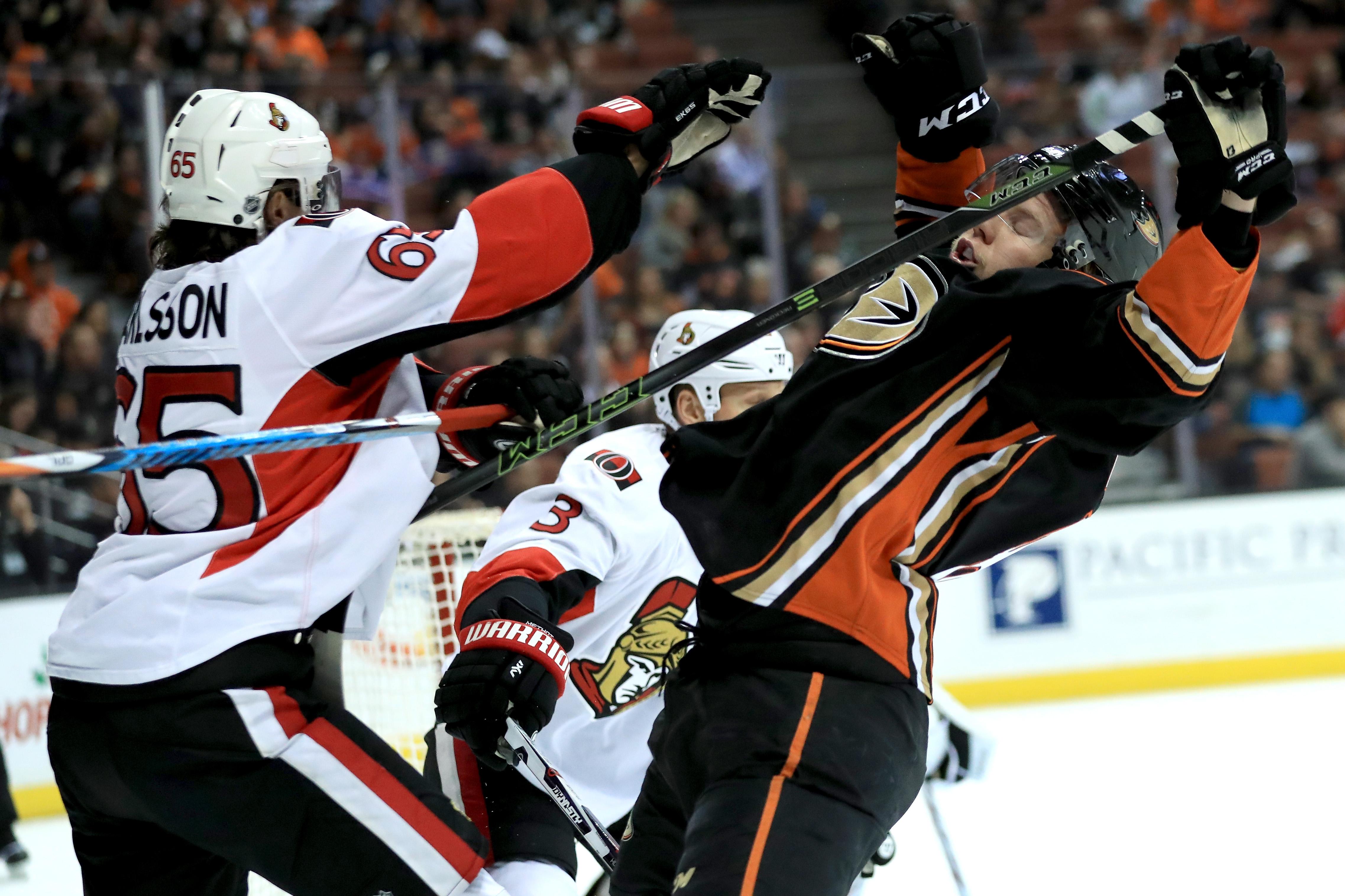 Ottawa Senators v Anaheim Ducks