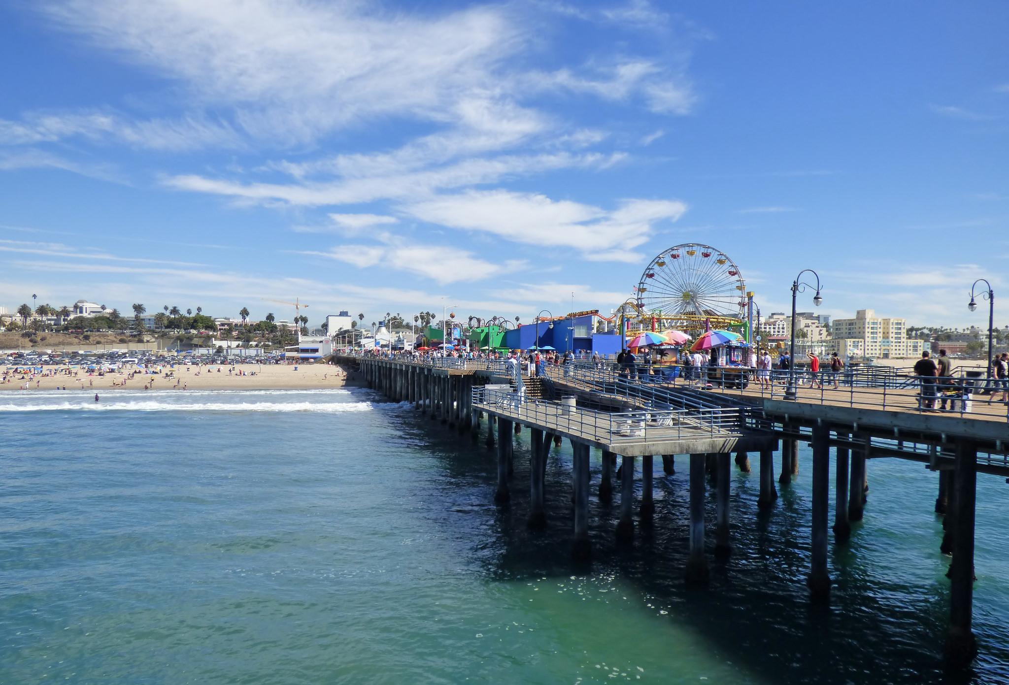 A photo of the Santa Monica Pier.