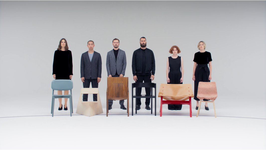 Six furniture designers play a game of musical chairs for fashion brand COS