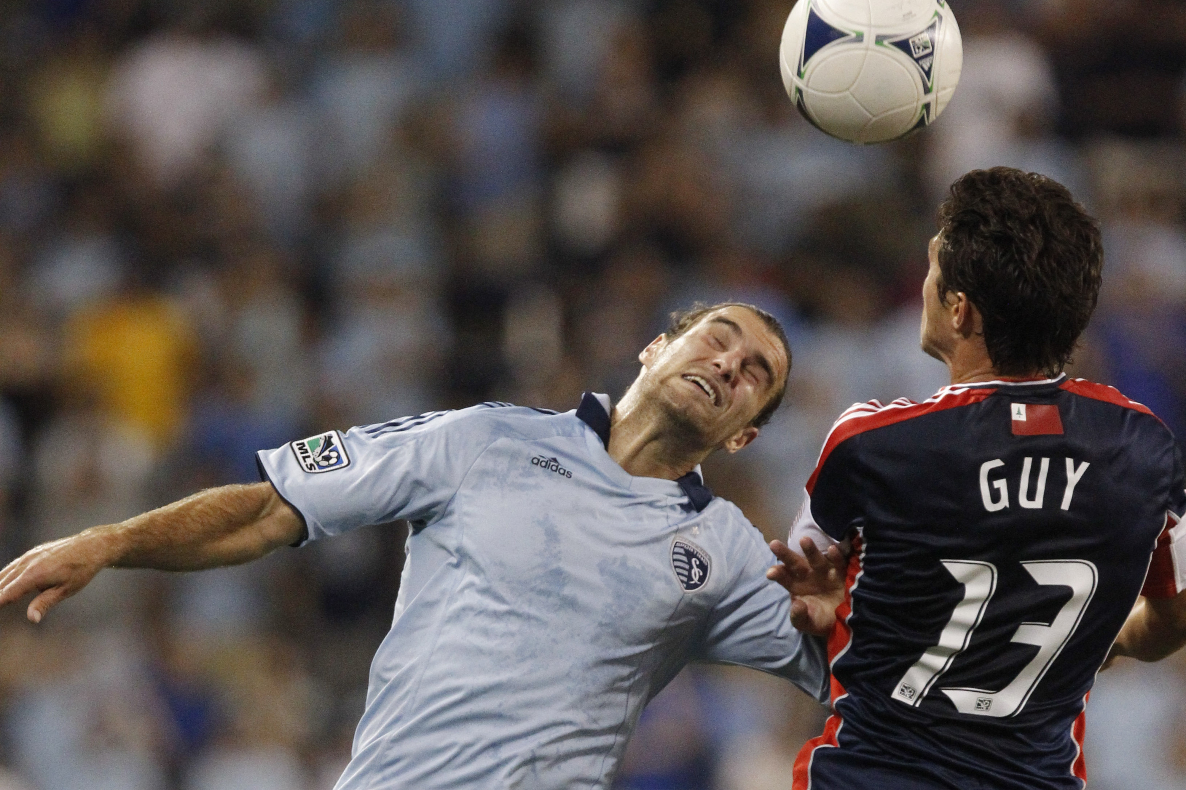 Ryan Guy (selected 22nd in 2007 MLS SuperDraft) squares off with Graham Zusi (selected 23rd in 2009 MLS SuperDraft) this past summer.