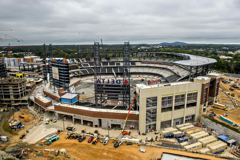 Construction Company Building Braves Stadium