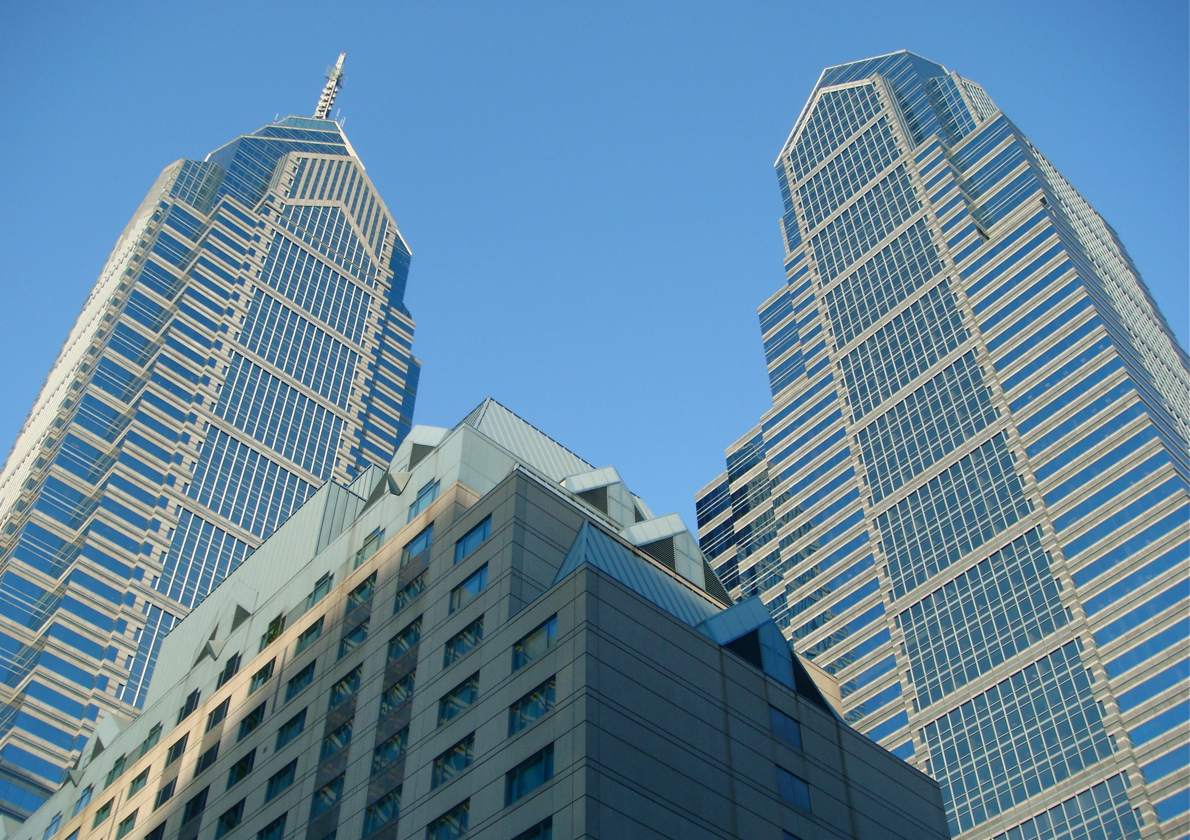 One and Two Liberty Place skyscrapers in Philadelphia