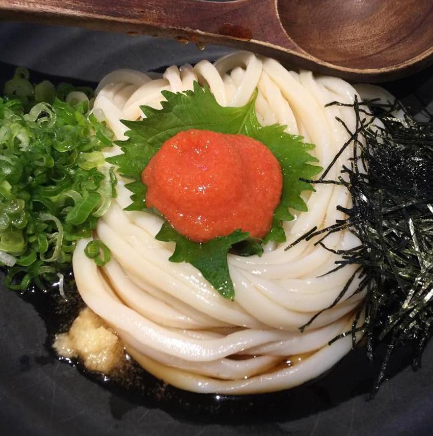 Marugame Monzo's mentai shiso udon