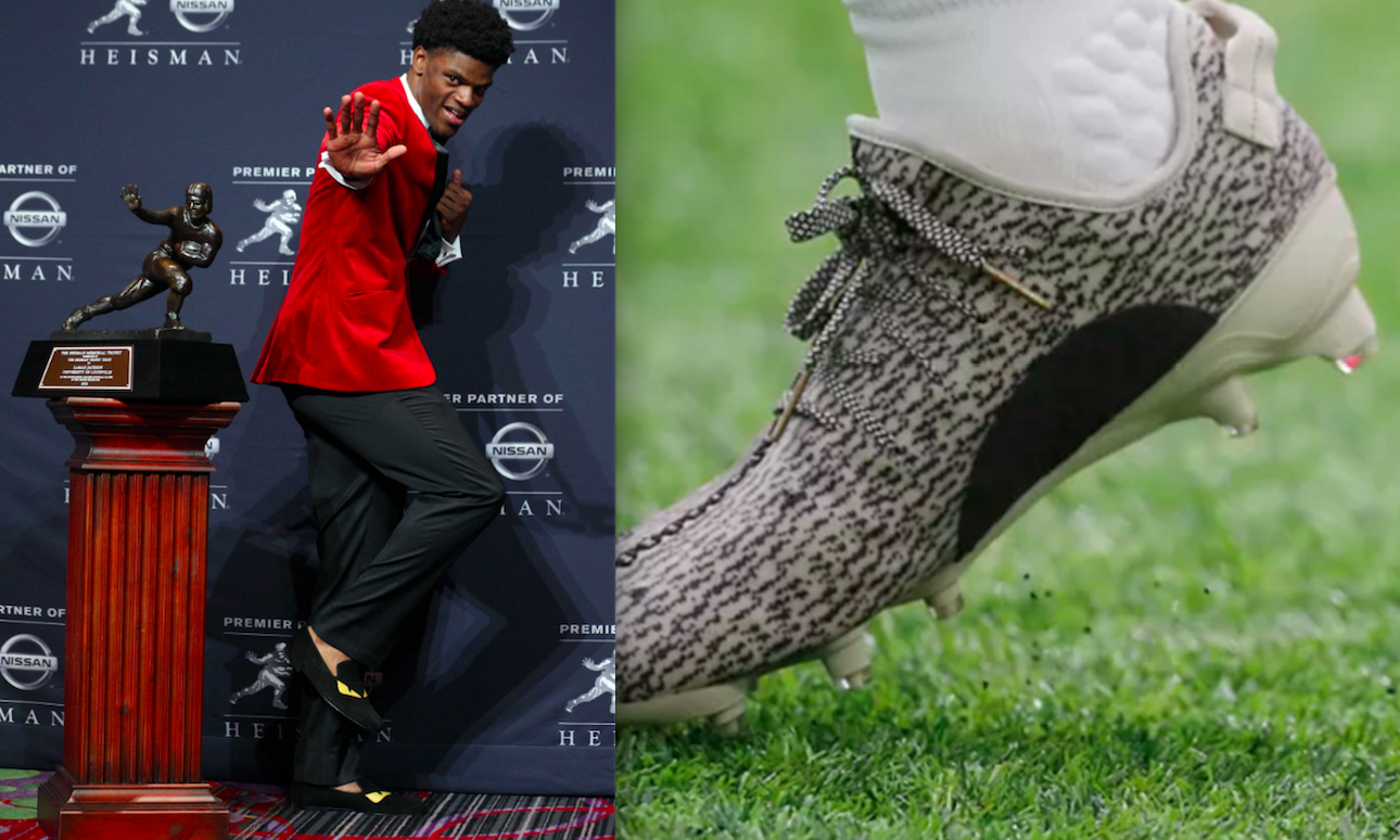 Adidas wanted Lamar Jackson to wear Yeezy cleats. He'd only do it if his whole team could.