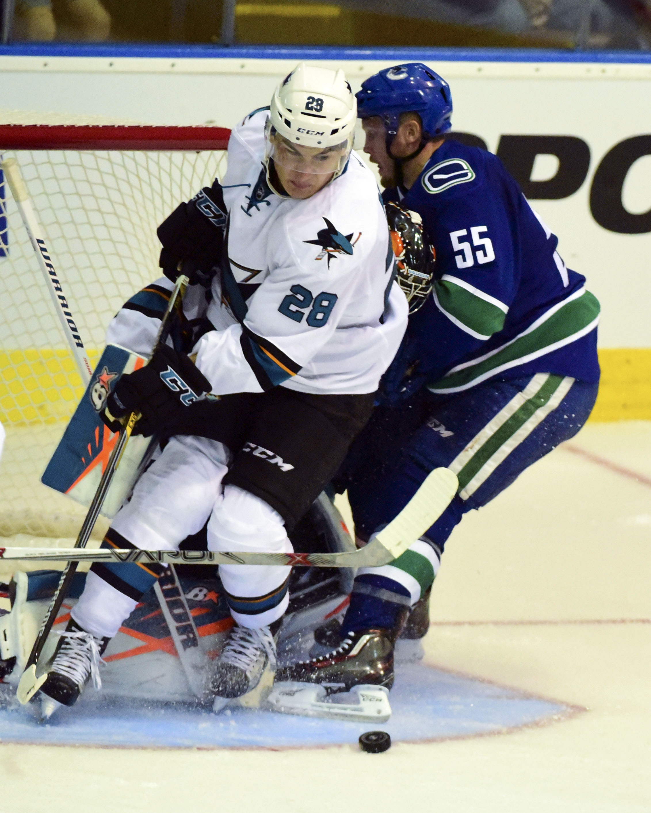 NHL: Preseason-San Jose Sharks at Vancouver Canucks