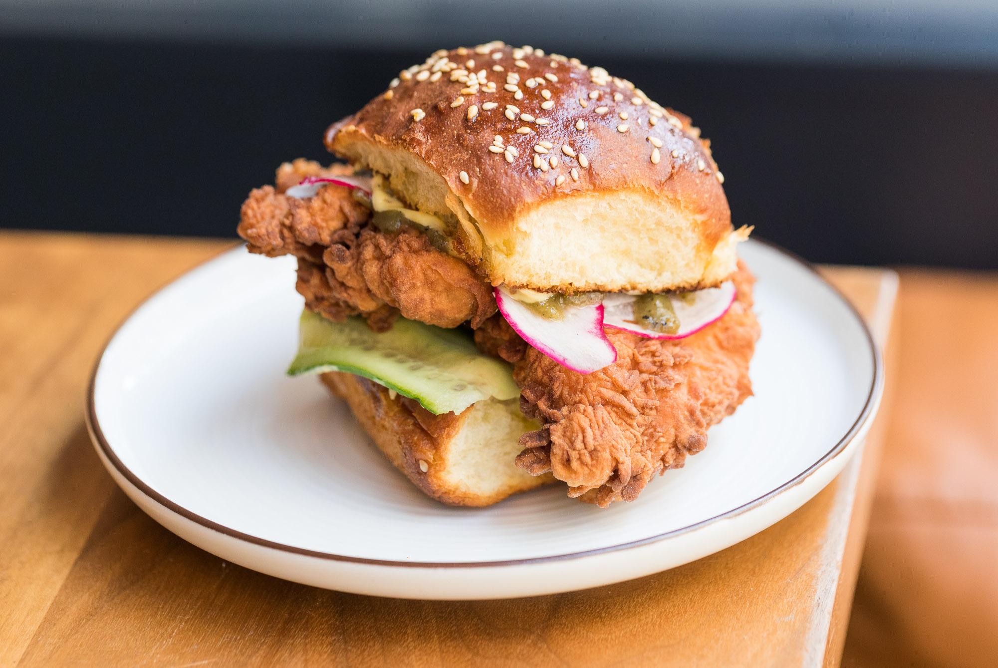 Fried chicken sandwich at Orsa & Winston