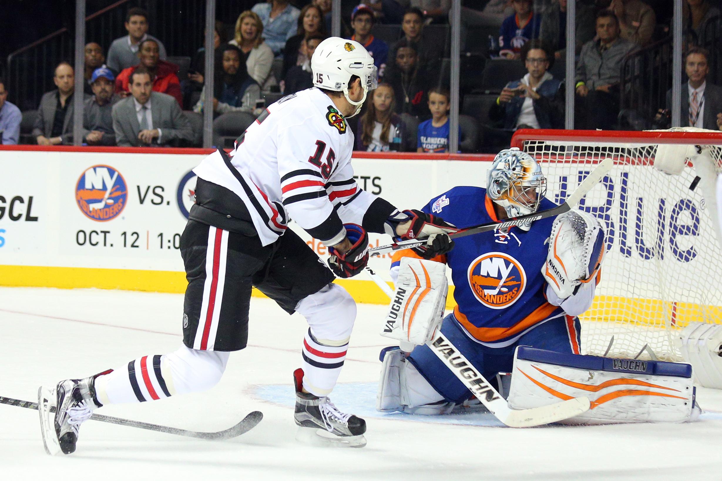NHL: Chicago Blackhawks at New York Islanders