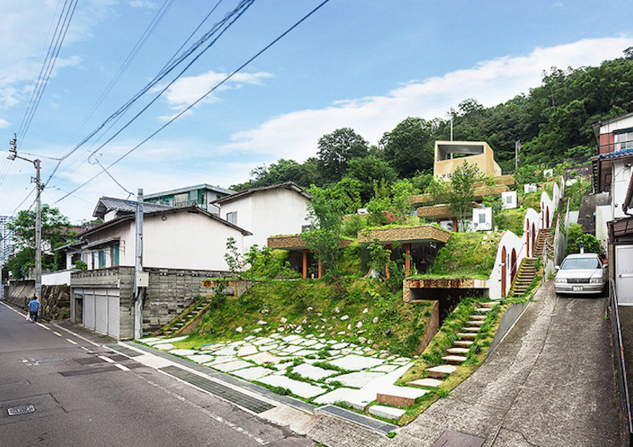 A Hobbit-style apartment building rises in Japan