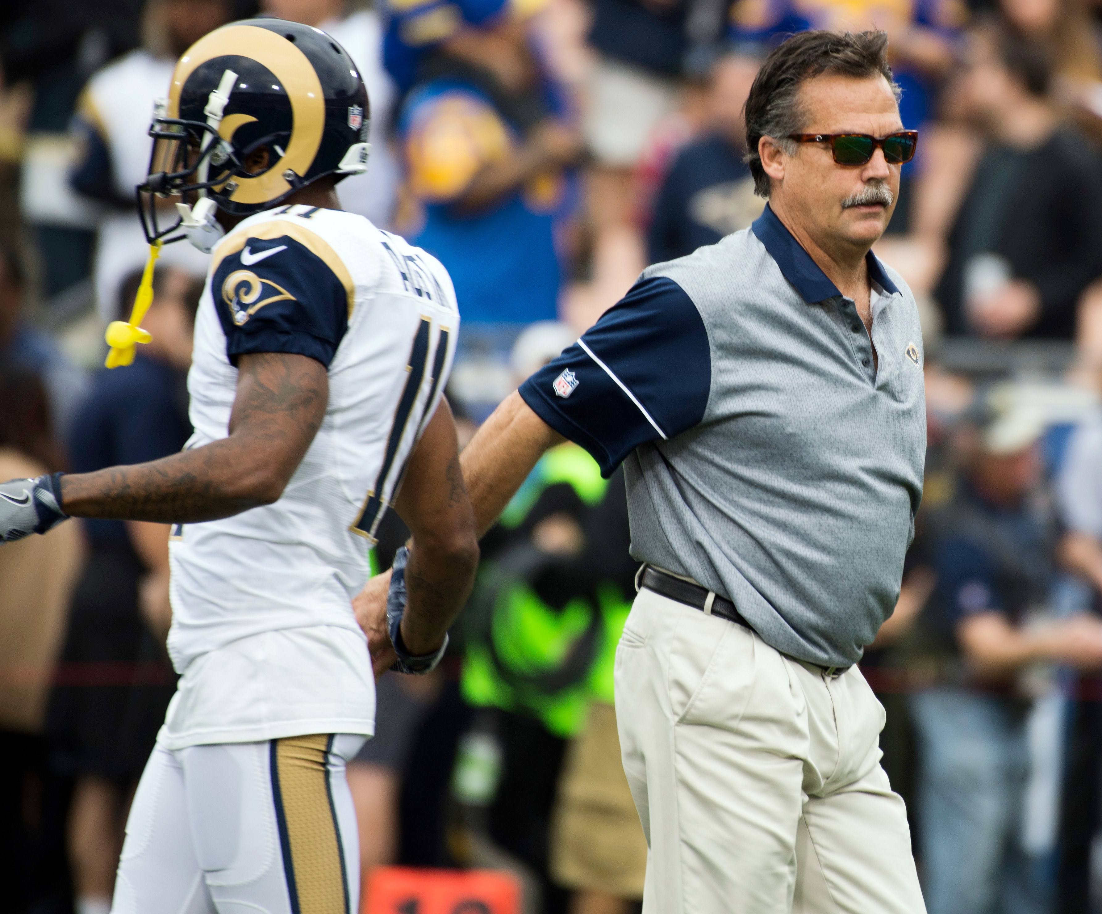 Los Angeles Rams WR Tavon Austin and Former Head Coach Jeff Fisher