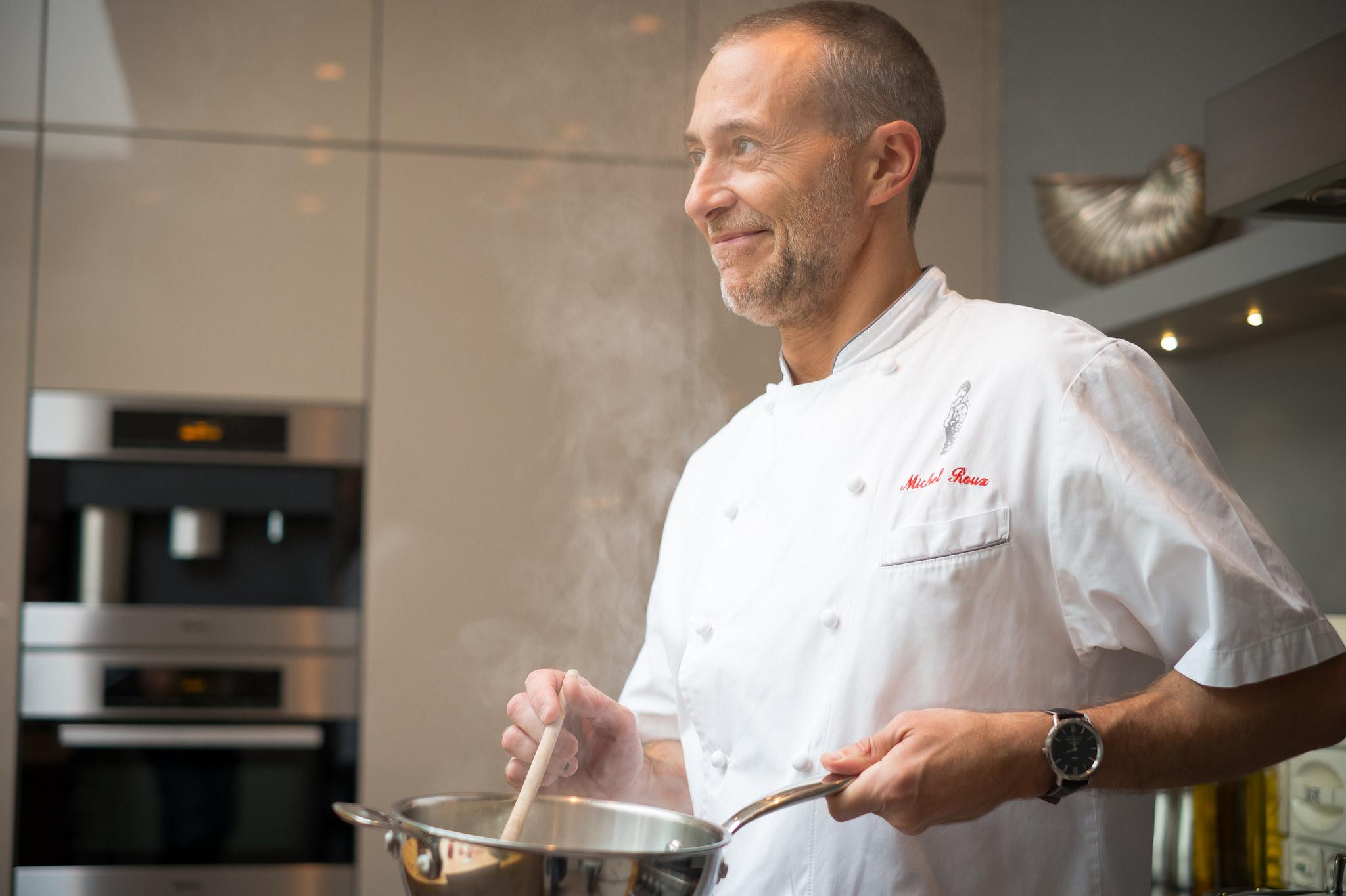 Michel Roux Jr. cooking