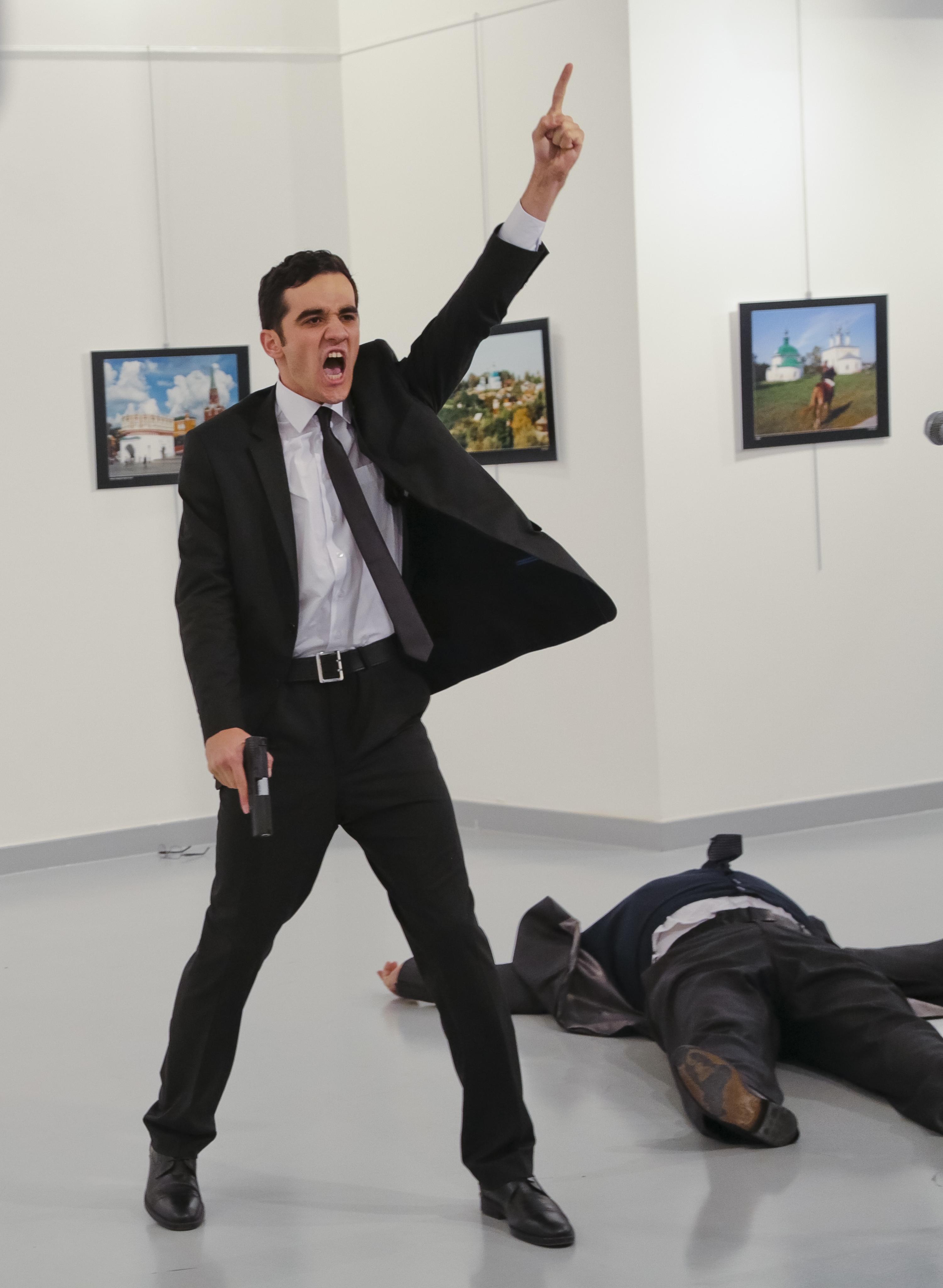 A gunman just assassinated Russia's ambassador to Turkey