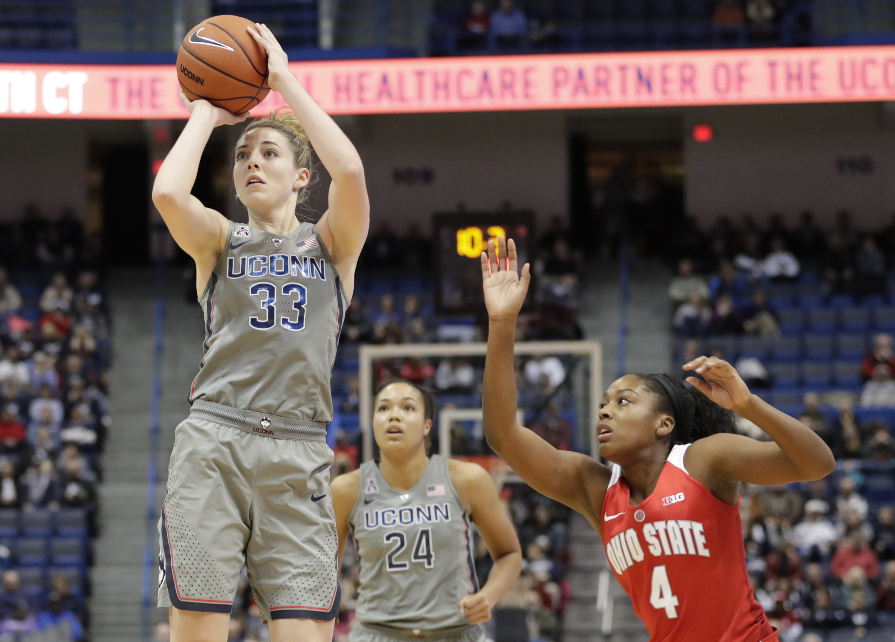 NCAA Womens Basketball: Ohio State at Connecticut