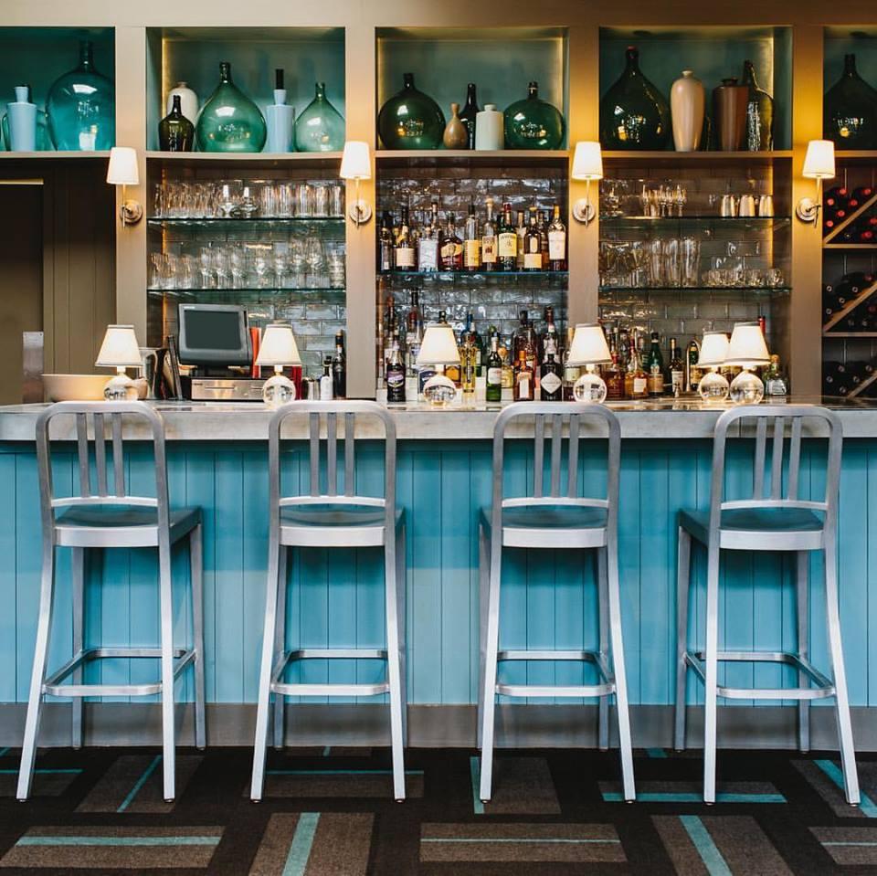 The bar at Floataway Cafe.