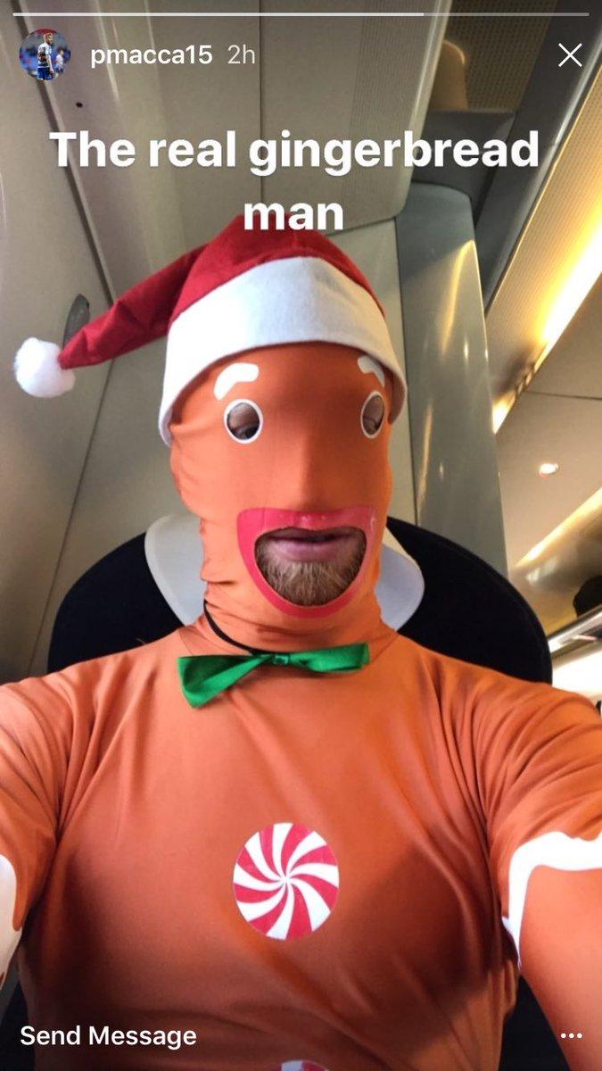 Paul McShane is the gingerbread man