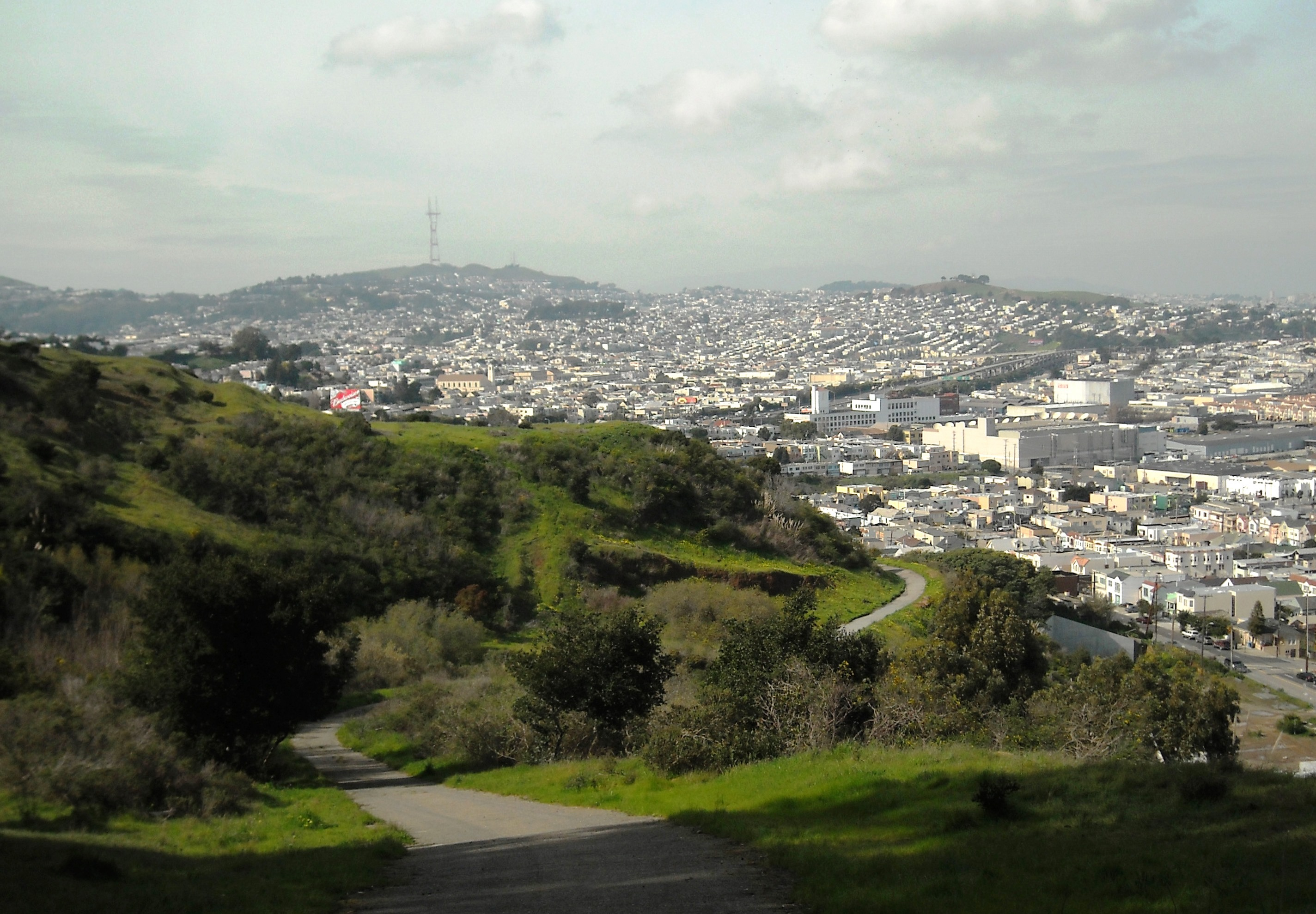 The view from Bayview Park.