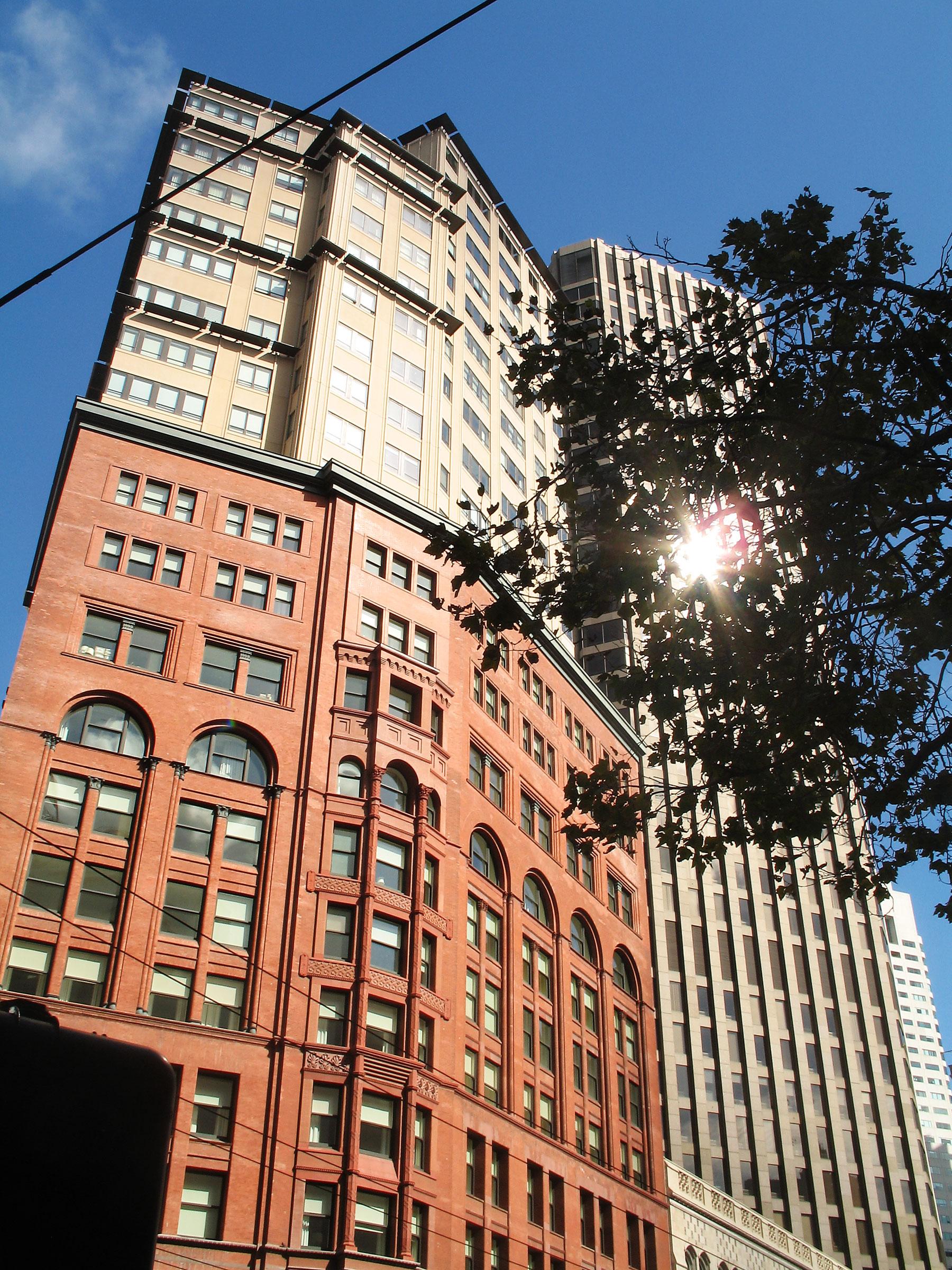 Facade of Ritz-Carlton Residencestower on Market Street.