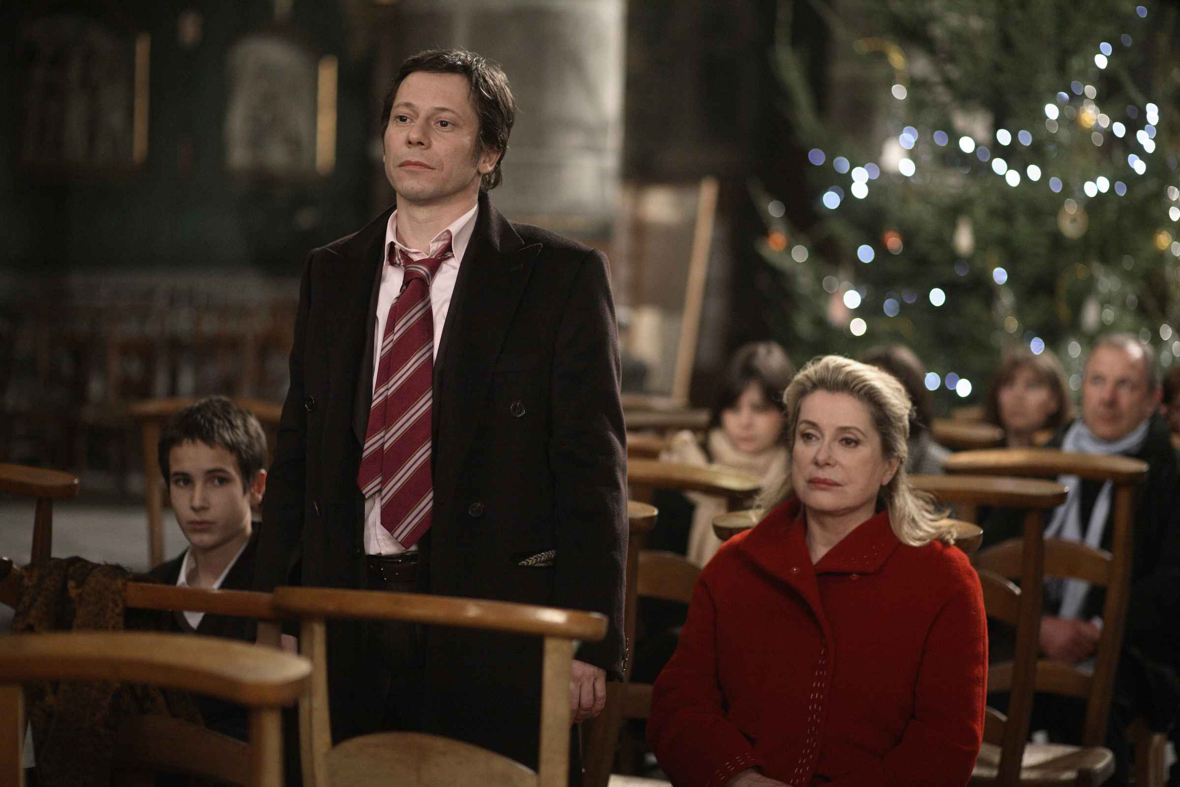 Mathieu Amalric and Catherine Deneuve in A Christmas Tale