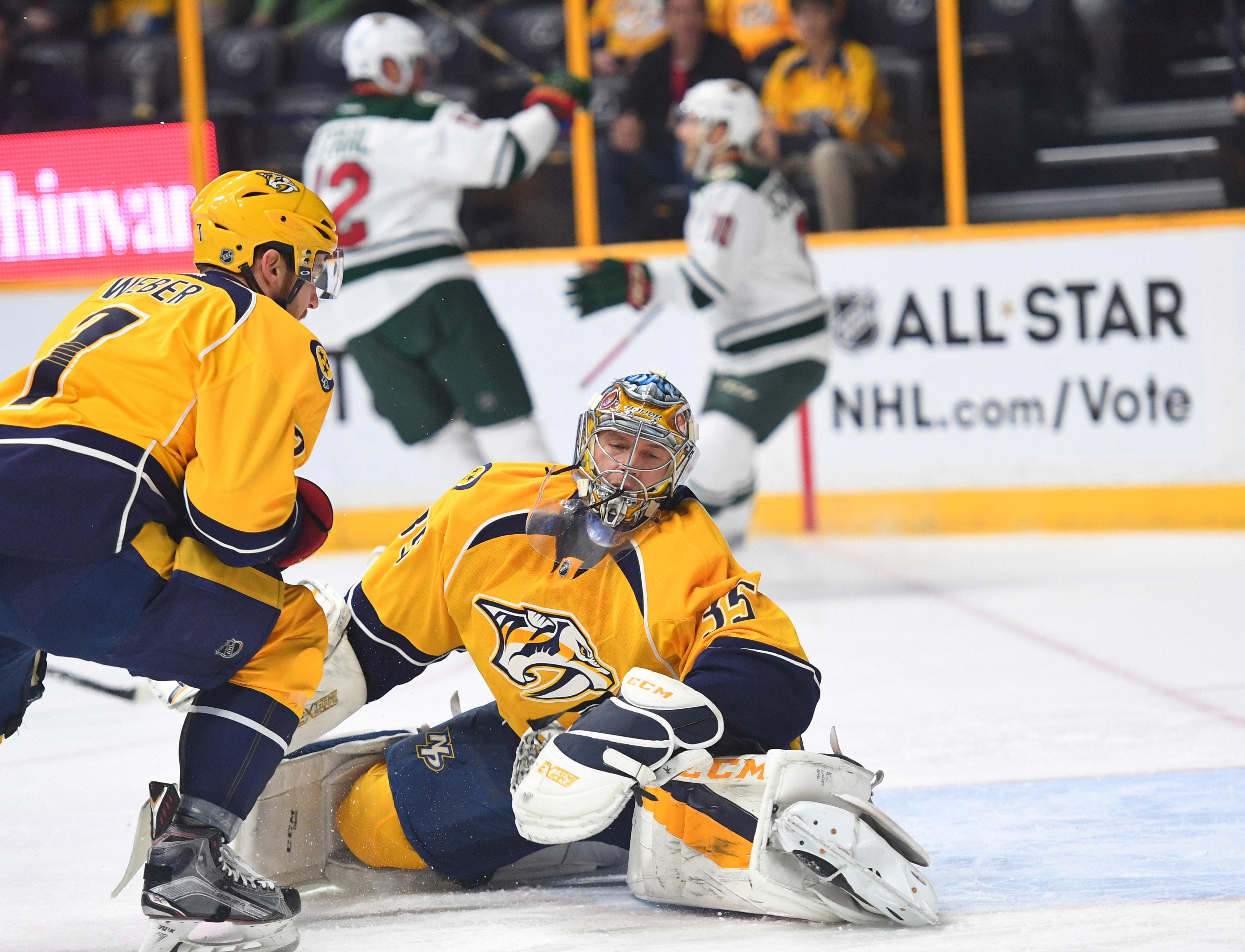 NHL: Minnesota Wild at Nashville Predators