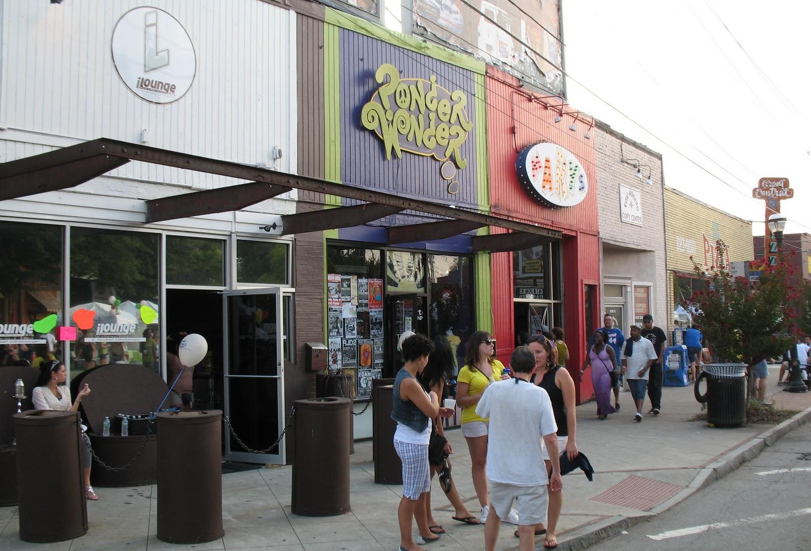 A scene from the East Atlanta Village in Atlanta.