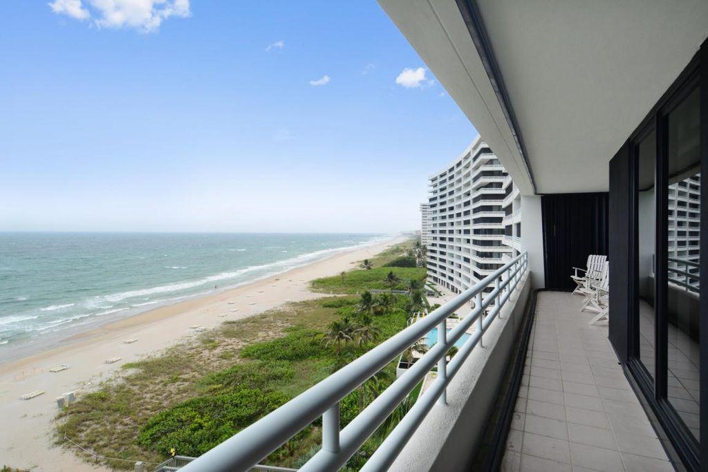 An ocean view from a Boca condo