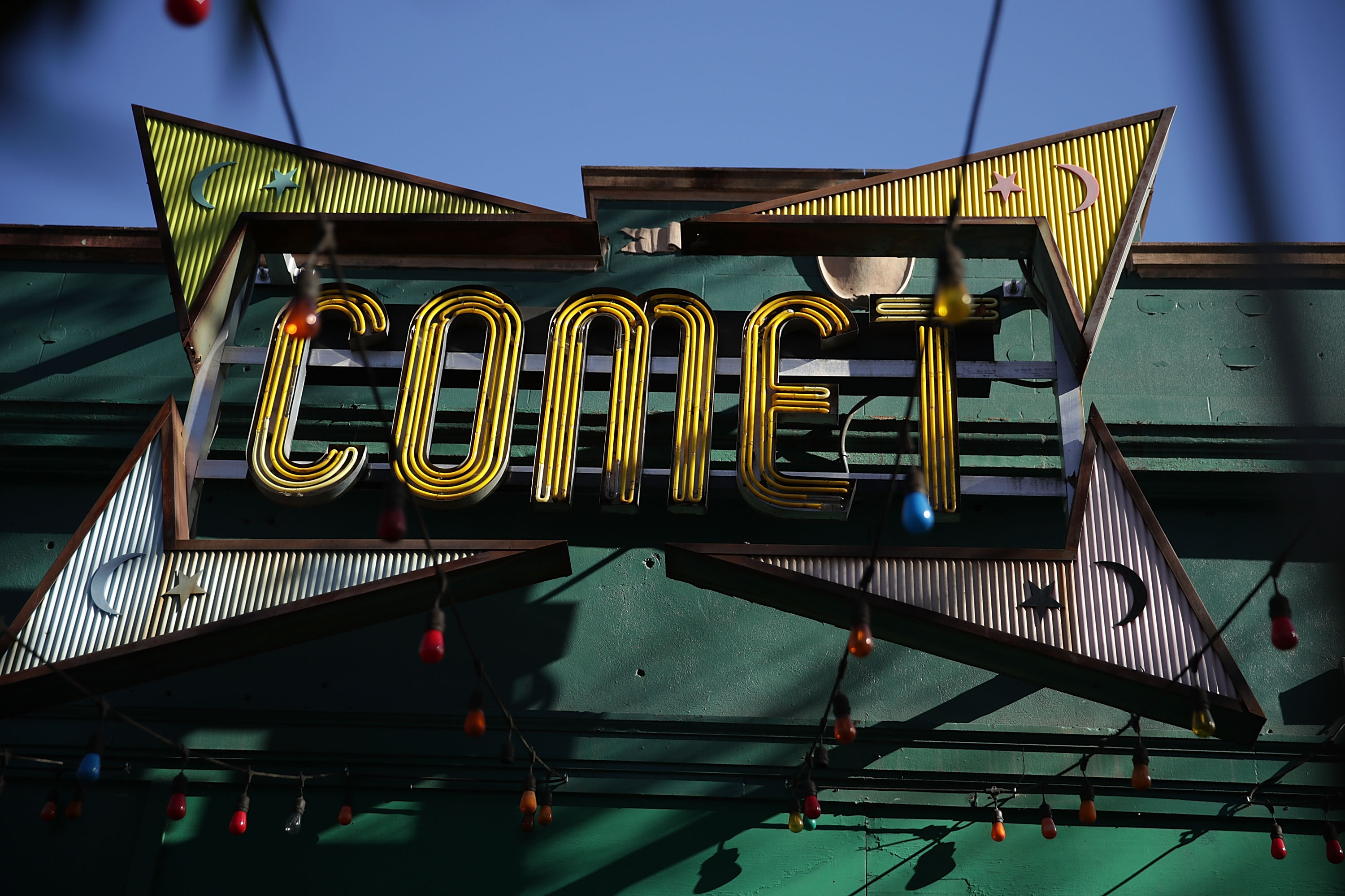 Signage for Comet Ping Pong in Washington DC.