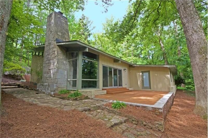 A renovated midcentury modern home in Roswell, GA.