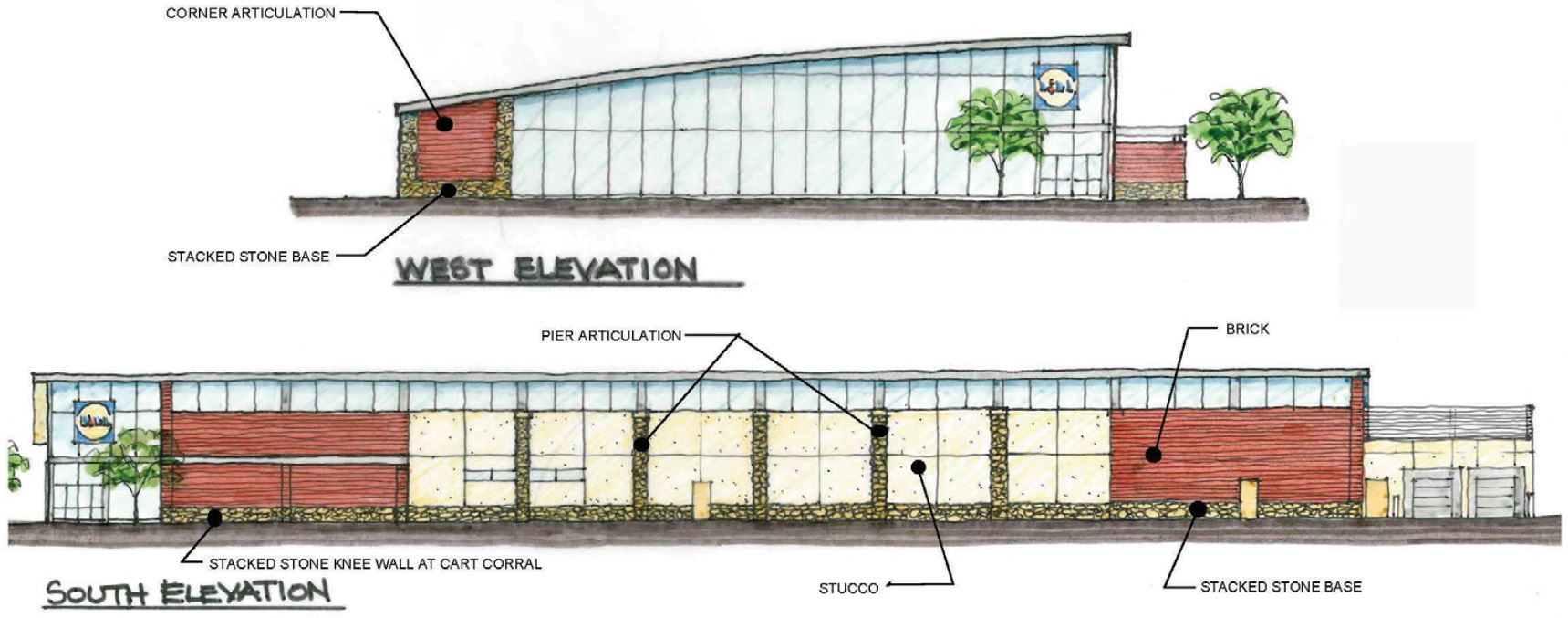 A view of the Lidl proposed in northern Sandy Springs of metro Atlanta.