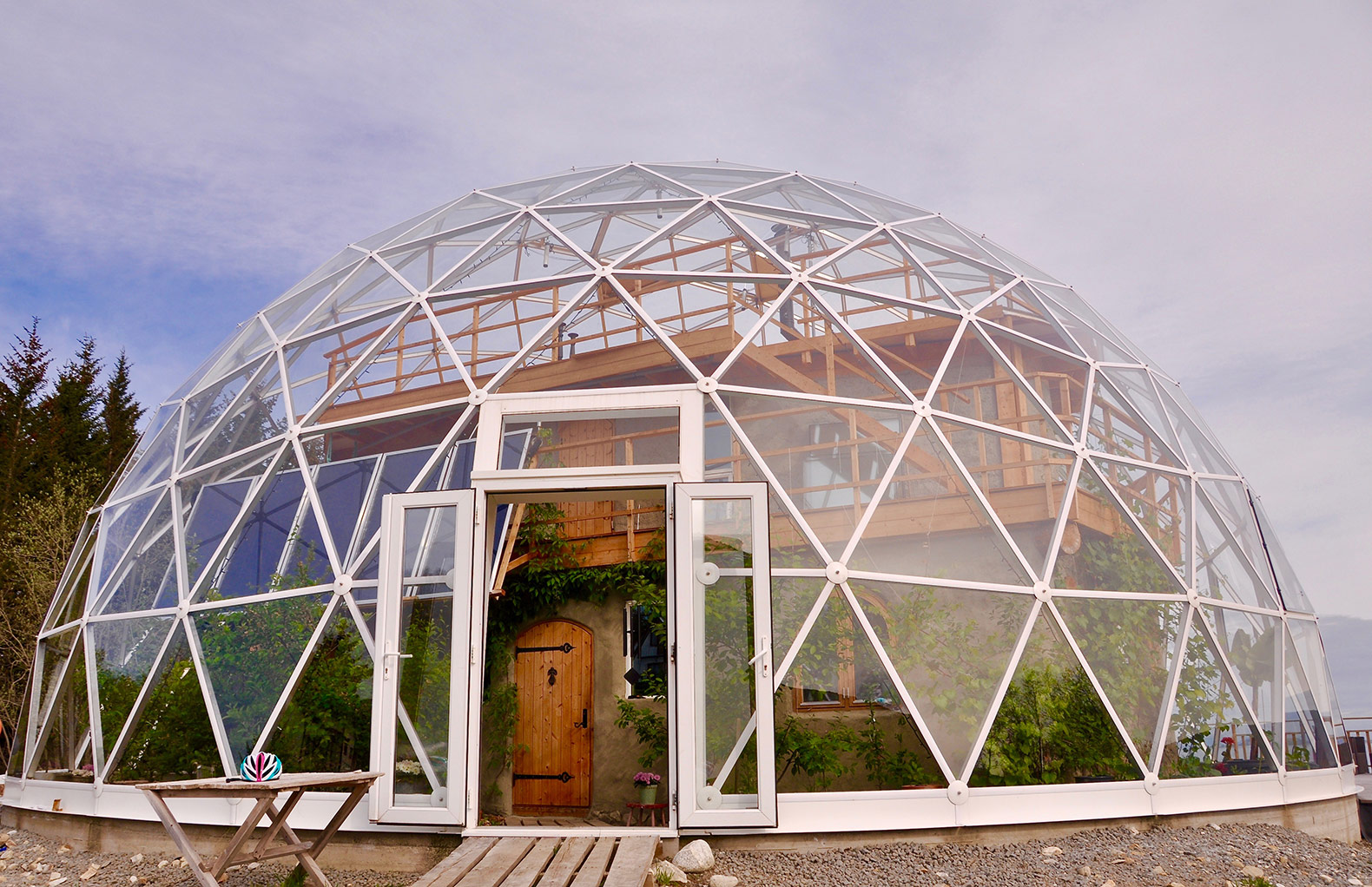 Inside a family's geodesic dome home in the Arctic Circle