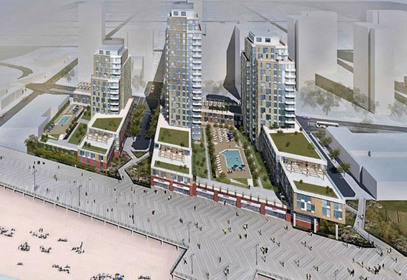 An early rendering for John Catsimatidis Ocean Dreams development in Coney Island