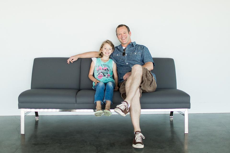 Bob Blair and daughter Celie
