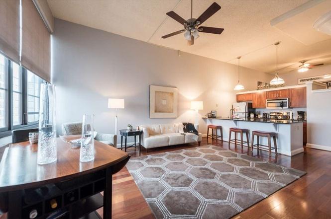 A bright living room.