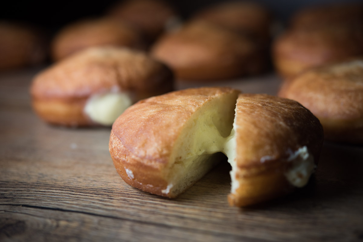 Cream-filled doughnuts at Ba Bar SLU.