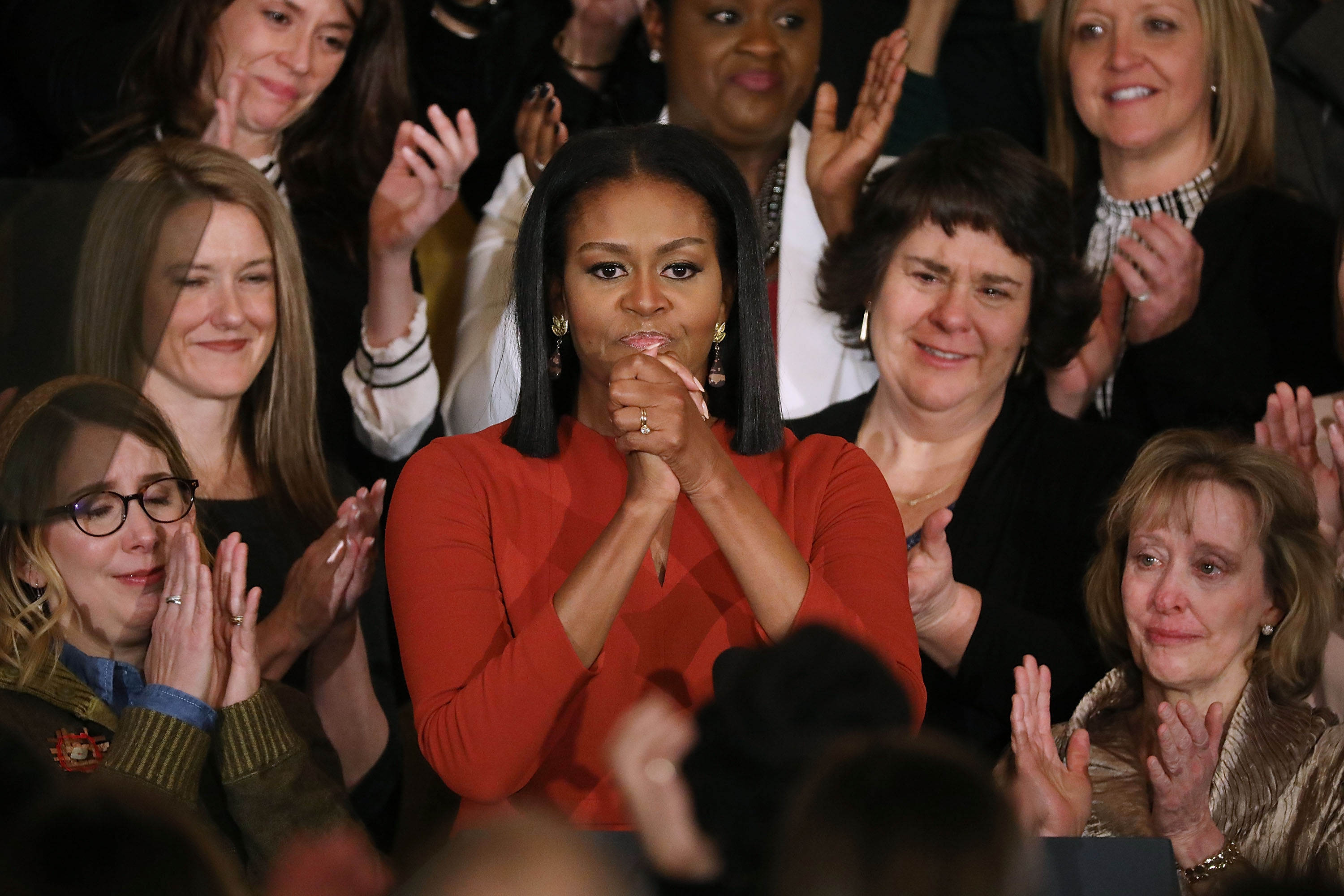 Michelle Obama's last speech as first lady was a tearful, impassioned defense of American diversity