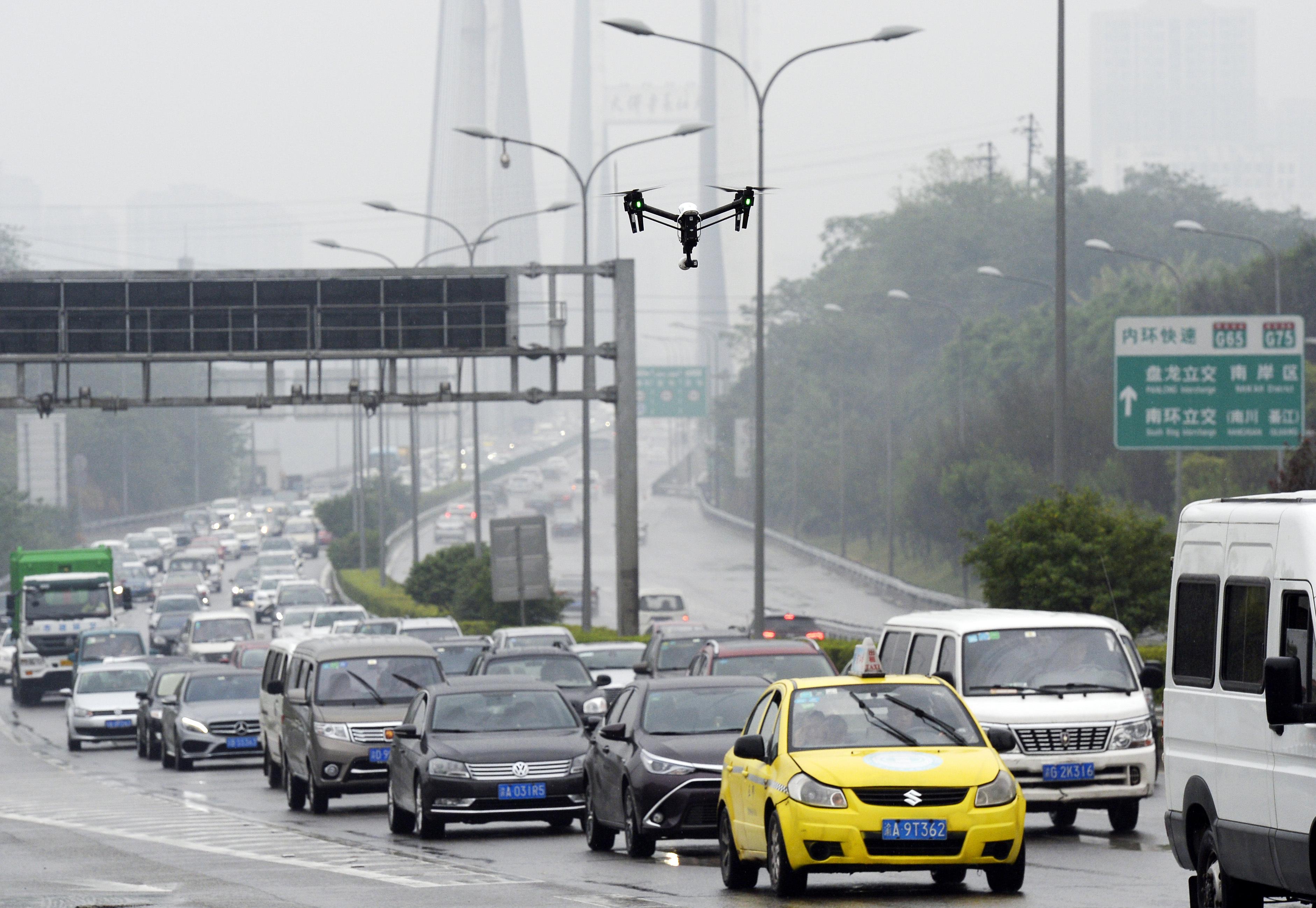 Drones To Help Traffic Police Probing Irregularities In Chongqing
