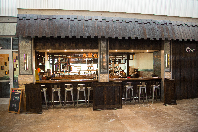 The Craft Izakaya bar that faces out into Krog Street Market.