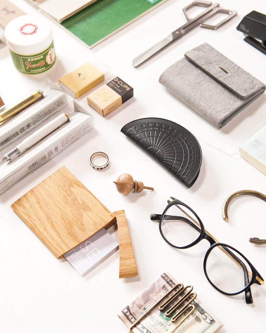 an overhead view of accessories from Tortoise General Store