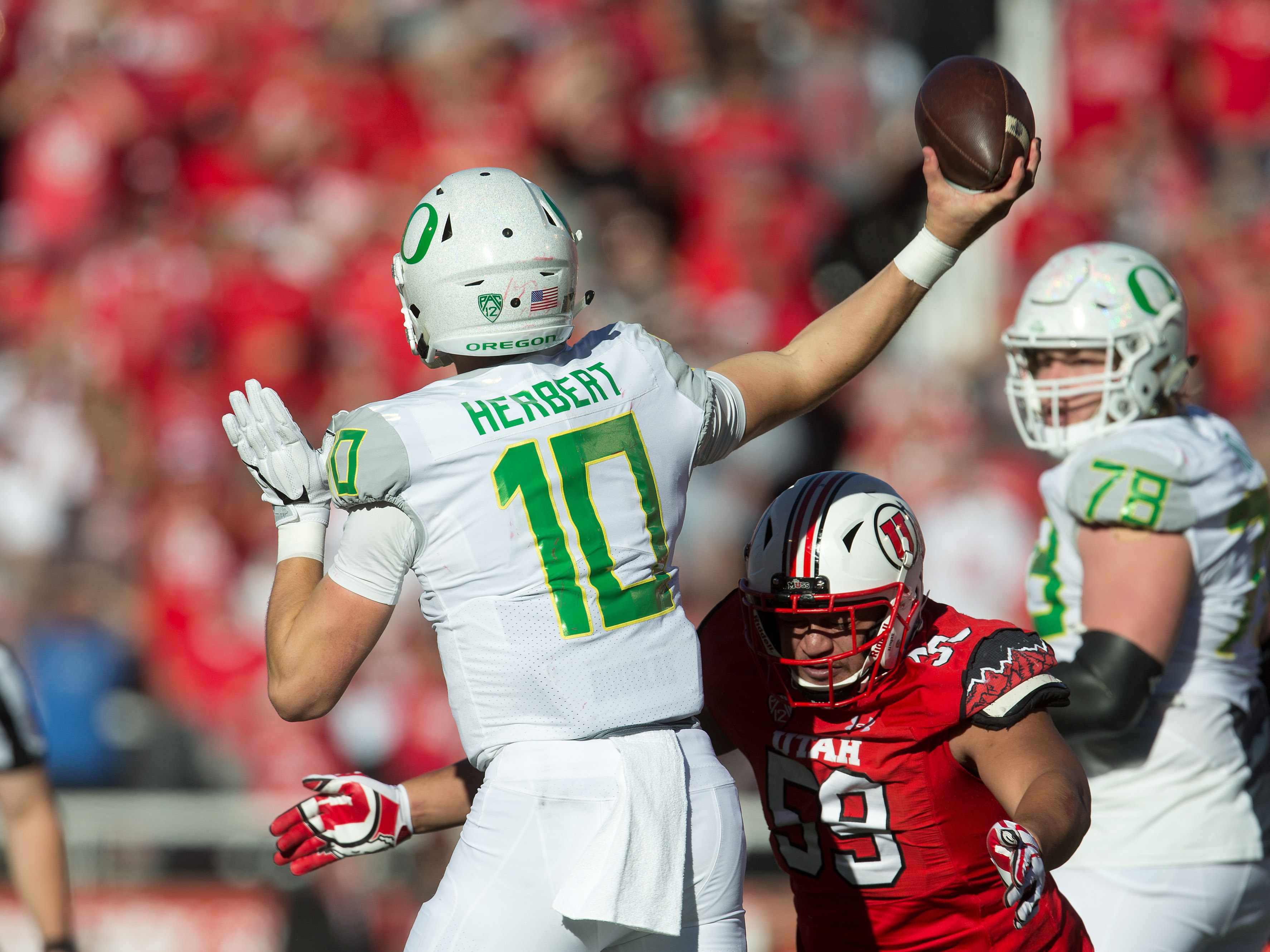 NCAA Football: Oregon at Utah
