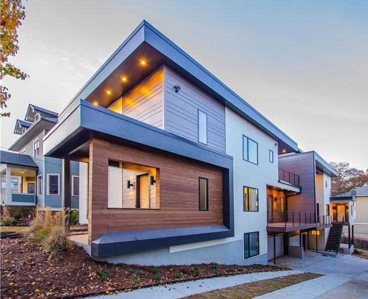 A new modern townhouse for sale in Atlanta's Old Fourth Ward.