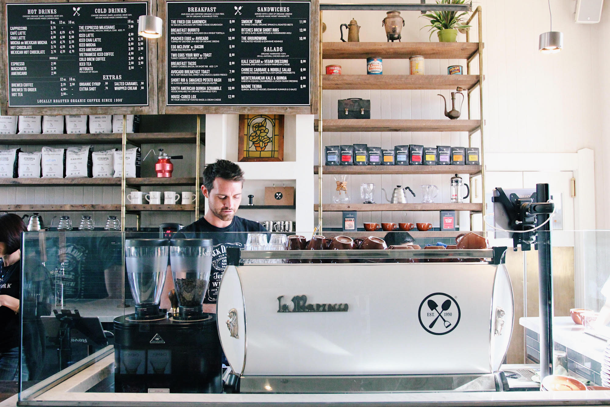 Groundwork Coffee Just Gorgeously Restored One of LA's First Train Depots