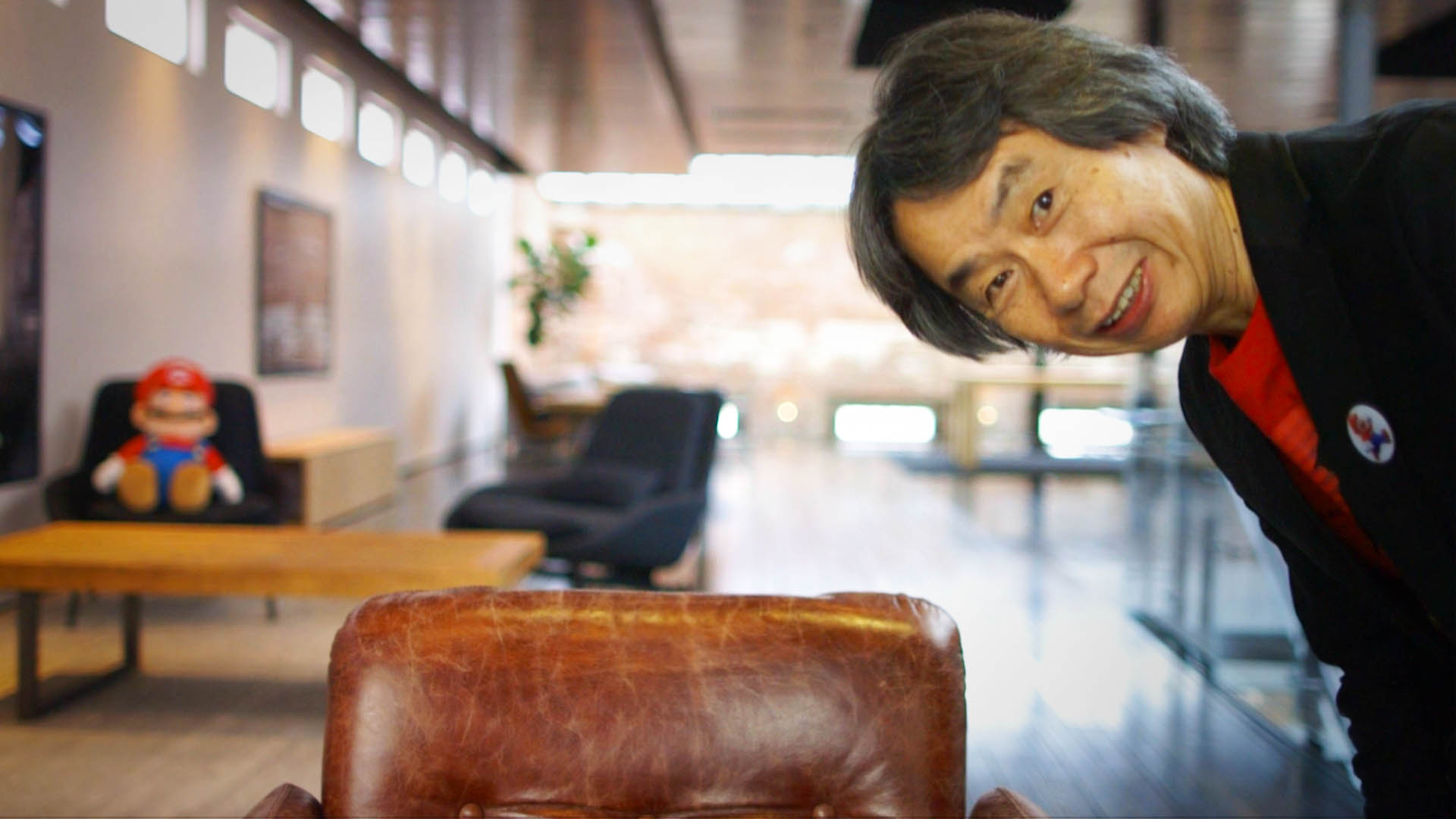 Shigeru Miyamoto peers into the camera during interview with Vox