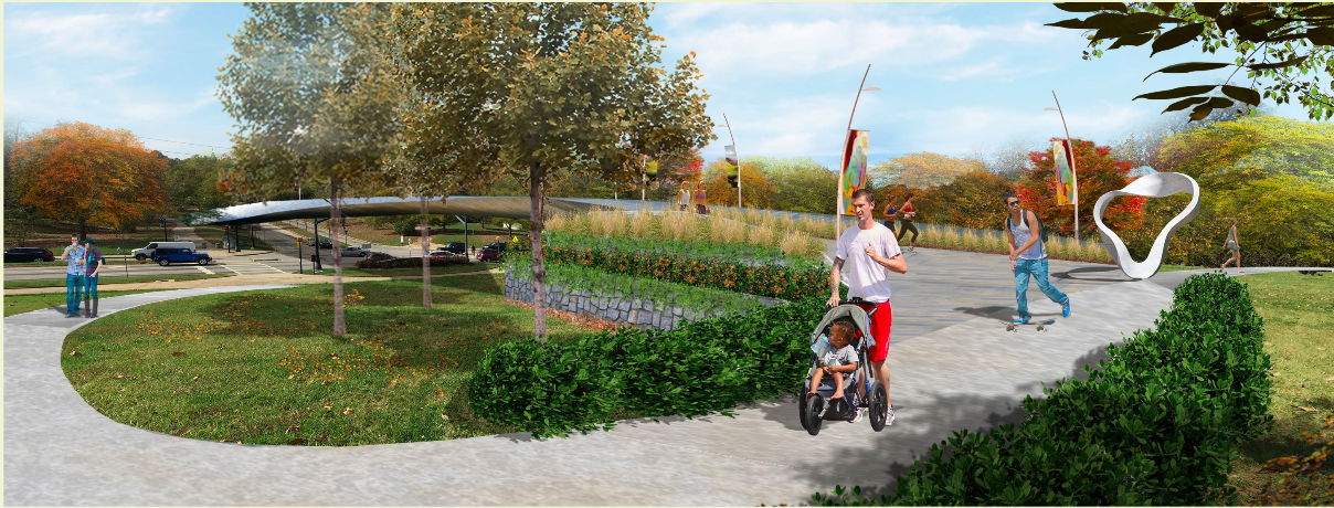 In Atlanta, the people have spoken, and a pedestrian bridge spanning traffic-heavy Moreland Avenue could look something like this.