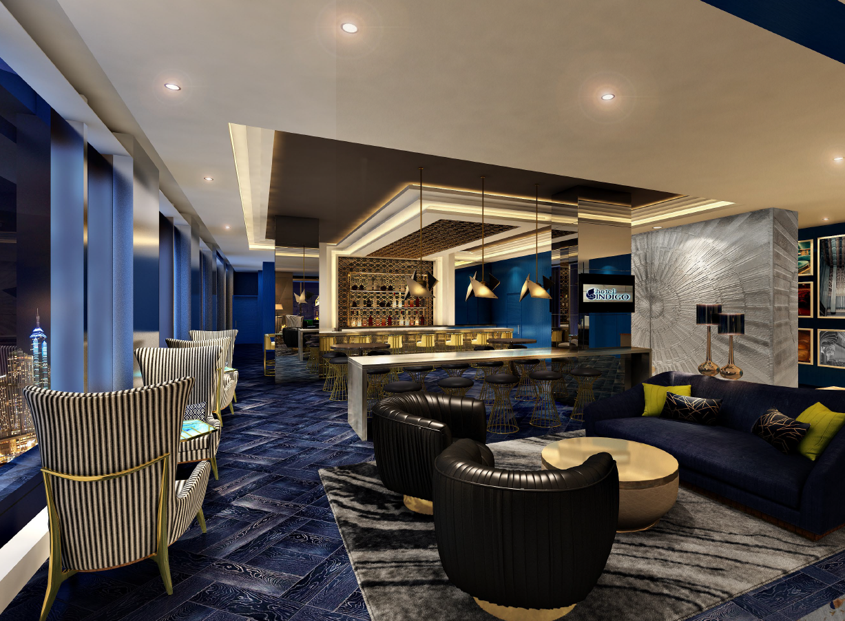 A rendering of the hotel's interior.