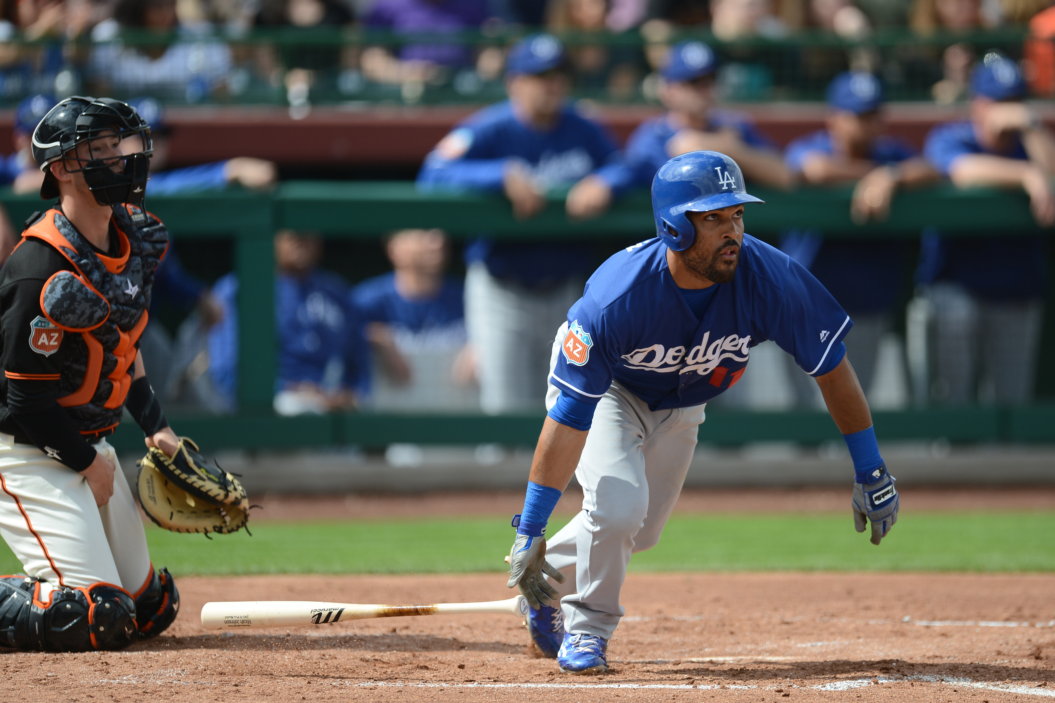 MLB: Spring Training-Los Angeles Dodgers at San Francisco Giants