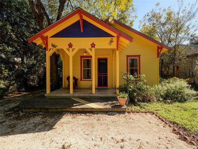 Bright yellow bungalow
